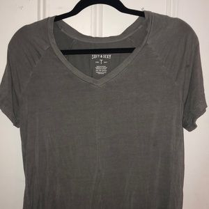 Gray soft and sexy tee